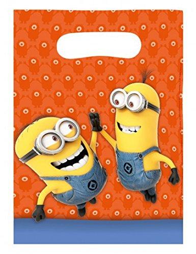 amscan Minions Geschenktüten (6-teilig) (Minion Halloween Kinder Für Kostüm)