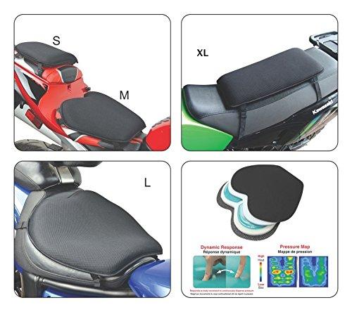 Gears X Tender Motorcycle/Snowmobile / ATV Gel Seat Cushion (Medium)