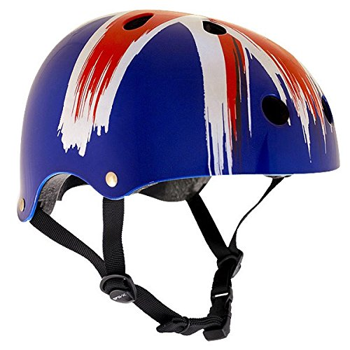 SFR Skateboard / Scooter / Inliner / BMX / Rollschuh Schutz Helm - Union Jack - Skateboard Schutzausrüstung , Grösse:XXS/XS 49-52cm