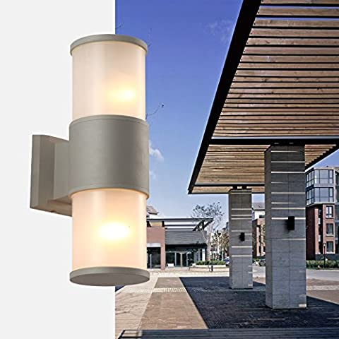 SADASD Einfache moderne Led Aluminium Wandleuchte Outdoor 11*32 cm für Terrasse Garten Garten Zaun Startseite Treppen
