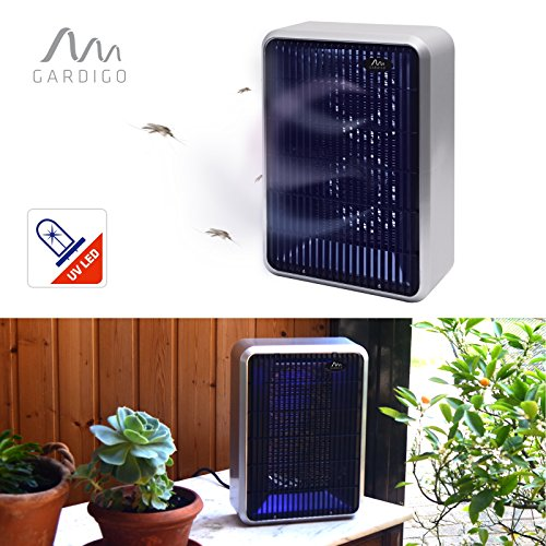 Gardigo Insektenvernichter Wirkungsbereich bis 50 m² mit 1000 V Hochspannung, UV-Licht und 2 Ansaugventilatoren   Deutscher Hersteller