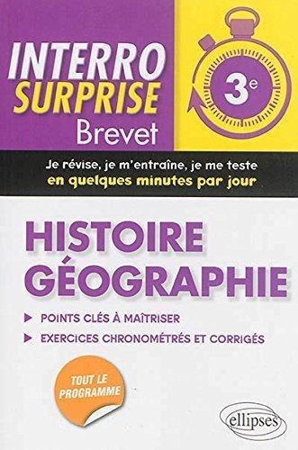 Interro Surprise Brevet Histoire Géographie Troisième de Audrey Longprès-Raillot (15 juillet 2014) Broché