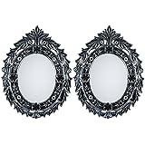 MADHUSUDAN GLASS WORKS Mirror & Plywood Wall Mirror (Pack Of 2, Silver) - B07BJ4CQCB