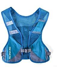 AONIJIE mochila senderismo mochila hidratación maratón macho ligero chaleco escalada ciclismo Mochila, azul