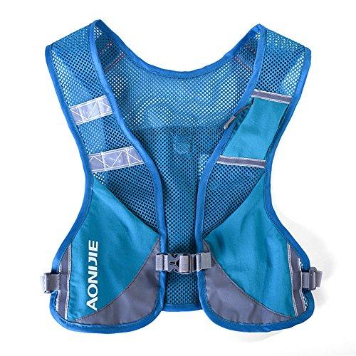 Mochila/chaleco Aonijie de hidratación, ligera, ideal para senderismo, maratón, escalada y ciclismo, azul