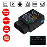 WildAuto OBD 2 Bluetooth Auto Lecteur de Code Elm 327 Bluetooth Voiture...