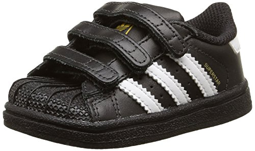 adidas Superstar Foundation B23638, Unisex-Kinder Low-Top Sneaker, Schwarz (Core Black/Ftwr White/Core Black), EU 25 (Junior-mädchen-schuhe)