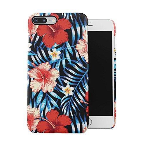 Exotic Floral Flowers Blossoms Jungle Pattern Print Dünne Handy Schutzhülle Hardcase Aus Hartplastik Hülle für iPhone 7 PLUS/iPhone 8 PLUS Handyhülle Case Cover