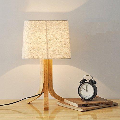 Nordique Bois Table Lampe 110 V 220 V E27 en Bois Fer Table Lampes De Chevet pour Chambre Café Boutique Restaurant Lampe De Bureau