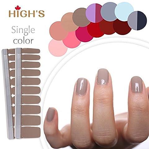 HIGH'S Einzelne Farben-Reihe Klassische Ansammlung Manik¨¹re-Nagelaufkleber-Nagel-Verpackungen,