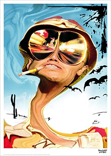 Fear And Loathing In Las Vegas Limitierter nummerierter Kunstdruck 30 x 42 cm