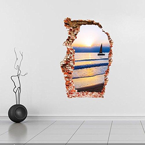 YUCH Stéréo 3D Poqiang Autocollants Décoratifs Muraux Amovibles
