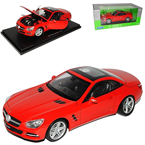 Welly Mercedes-Benz SL-Klasse R231 Cabrio Coupe Geschlossen Rot Ab 2012 1/18 Modell Auto - 231 Coupe
