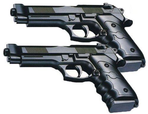 Nerd Clear Black Softair-Pistole 2 Stück Set ab 3 Jahre max. 0,08 Joule schwarz 6 mm ca. 15 cm Kinder-Pistole Spielzeug-Pistole Air-Soft
