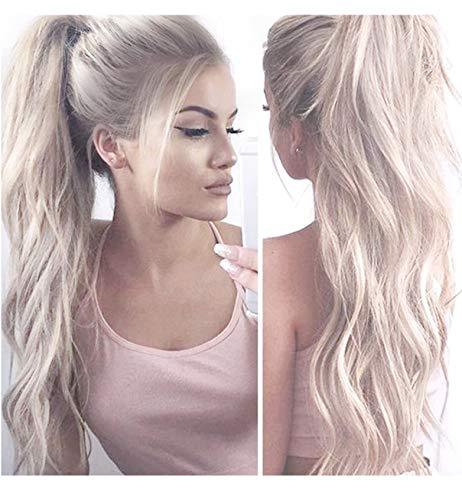 Vébonnie Ombre Blonde Lace Front Perücken für Frauen Honig Blonde Perücken (White Blonde)