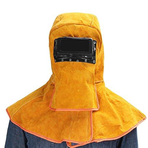 Jannyshop Schweißen von Masken Solar Automatische Dimmung Schweißen Maske Hohe Temperaturbeständigkeit von Rindsleder Material