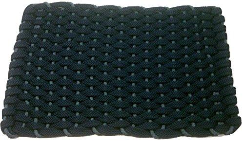 Rockport Seil die Sauberlaufmatten 2034321Indoor & Outdoor Fußmatten, 50,8x 86,4cm, Navy mit hell blau Einsatz (Blauen Teppich Und Seile)
