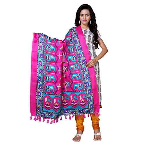 Applecreation Dupatta For Women Traditonal Printed Only Dupatta & Stole-Pink