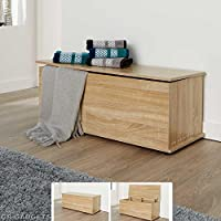 GB Furniture Wooden Ottoman Storage Box Chest Bench Seat Toy Beddin/Blanket Trunk Cabinet Lid