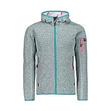 CMP Girls' Strickfleece Jacke 30H5905 Jacket, Giada-Bianco, 140 (EU)