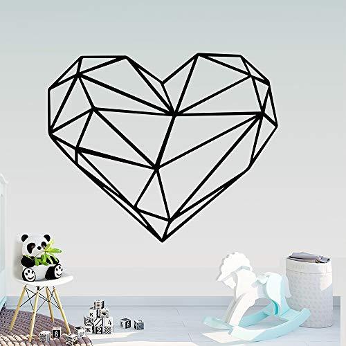 Kreativität Geometrie Herz Wandaufkleber Wandkunst Dekor Schlafzimmer Kinderzimmer Dekoration Aufkleber Wandbild Wandtattoo-Aufkleber-54x45cm