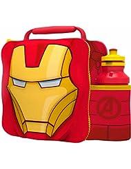 Marvel Iron Man de Los Vengadores 3d térmica bolsa para el almuerzo con botella