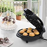 Jago Cake-Pop-Maker in zwei Größen inkl. 50 Stielen und Cake-Pop-Ständer und Backförmchen mit Antihaftbeschichtung Größe M backt 8 Stück und Größe L backt 12 Stück pro Durchgang