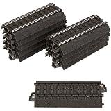 Märklin 24077 - Segmentos de pista ferroviaria recta de 77,5 mm (10 piezas), color negro