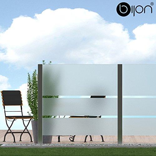 bijon® Glassichtschutz Windschutz Glaszaun Teilsatiniert PG7 C | 790x1835mm