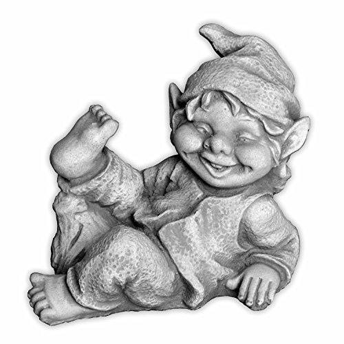 Lustiger kleiner Gnom I Troll Wichtel Fantasiefigur aus Steinguss frostfest