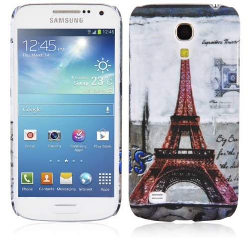 Preisvergleich Produktbild Cadorabo - Hard Cover für > Samsung Galaxy S4 MINI < - Case Cover Schutzhülle Bumper im Design: PARIS - EIFFELTURM