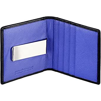 Leather Slimline Money Clip Wallet/Card Holder with ID/Oyster Card/Travel Pass Window