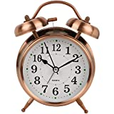 Efinito Twin Bell Table Alarm Clock with Night Led Display - 5 Inches