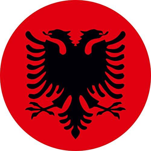 Preisvergleich Produktbild Mauspad Mausepad bedruckt mit Albanien Albania Albanischer Adler Fahne Neu Rund