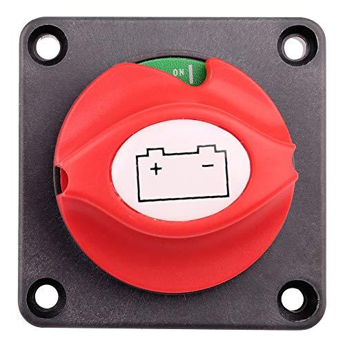 LotFancy Batterieschalter, 6-60 V DC, Batterie-Trennschalter für Boot, Auto, Wohnmobil, ATV, UTV, Fahrzeuge, Panelmontage, ON und Off Position, Batterie-Master-Trennschalter, Trennschalter Bep Batterie