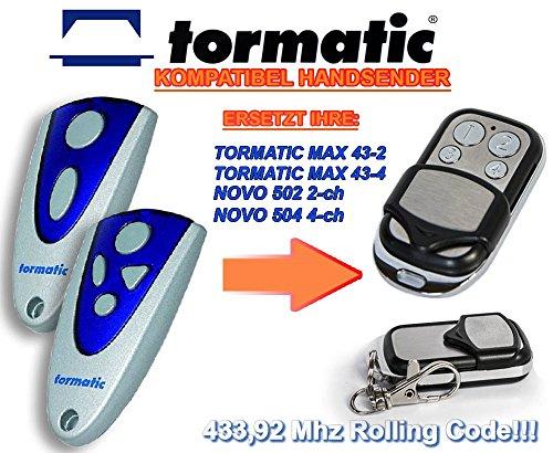 Preisvergleich Produktbild TORMATIC MAX 43-2 NOVO 502 2-ch, TORMATIC MAX 43-4 NOVO 504 4-ch kompatibel handsender, ersatz sender, 433.92Mhz !!!
