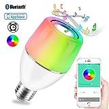 Danlit Lampe de musique Bluetooth WIFI Smart Ampoule haut-parleur LED App Ampoule E27 RVB Lumière pour iOS et Android