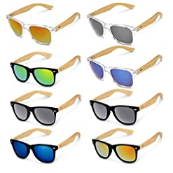 6b7ca9bfc9df Quick View. Frames   Watches. Navaris Wayfarer sunglasses UV400- Women Men  Wood – Glasses with bamboo temples ...