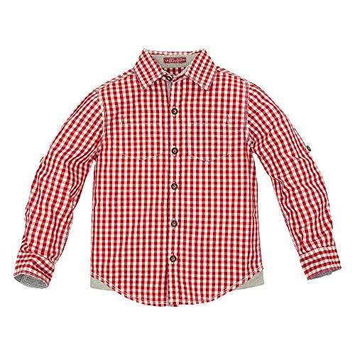 BONDI Trachtenhemd, karo rot/Weiss 116 Lederhosen Rebel Artikel-Nr.29948