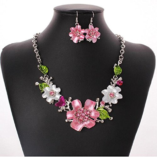 malloom-mode-temperament-doux-fleurs-sauvages-ensemble-collier-de-diamants