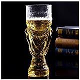 Runfon Tasse Coupe du Monde Champion de Football Motif Verre à vin Bière Bouteille pour Barre de fête,350 ML