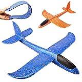 2 pièces avion en polystyrène, enfants avion jouet en plein air jeter planeur planeur manuel jet de mousse volant modèle jouer équipement cadeau pour enfants garçon fille anniversaire des enfants