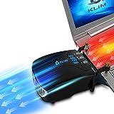 KLIM Tornado V2 2019 Version - Laptop Kühler - INNOVATIV - Schnelle Kühlung - klein + Geringes Gewicht + Leistungsstark + Wirksam Gegen die Überhitzung - USB Warmluft-Abzug