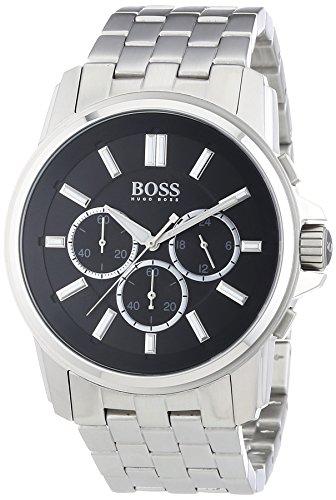 Hugo Boss Origin Chrono - Reloj de cuarzo para hombre, correa de acero inoxidable color negro
