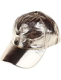 Greetuny 1pcs Unisex Gorras béisbol Brillante PU Moda Sombrero Mujer Plano  Gorro Visera c754ed52719