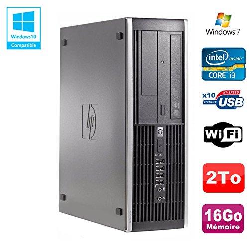 Hp PC Compaq Elite 8200 SFF Intel Core I3-2100 3.1GHz 16 GB 2To Dvd-Brenner WLAN W7
