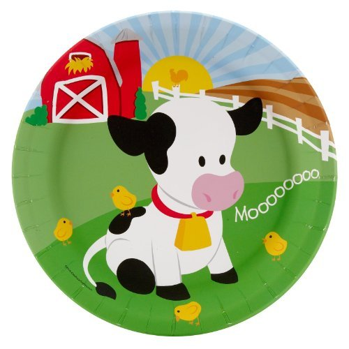 Farm Animal Party Supplies - Dinner Plates (8) by BirthdayExpress