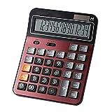 Mengshen Calcolatrice da Tavolo Batteria Solare Calcolatrice Standard Lavoro a Doppia Alimentazione Display LCD di Grandi Dimensioni a 14 cifre Conveniente per Ufficio e casa