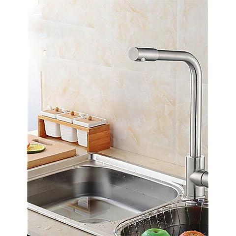 XMQC*0.5 montato sulla testata falciante singola maniglia un foro in Acciaio Inox rubinetto di cucina con becco orientabile K40CF30SS