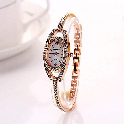 NINGSANJIN Damen Armbanduhr, automatik Damenuhr für Damen Damen Edelstahl Kalender